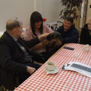 Residents from Glennie House meet Ruby the Dog